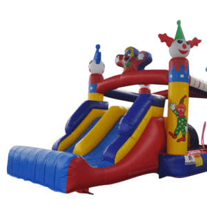 Location château gonflable clown
